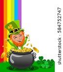 st patrick or saint patrick s... | Shutterstock .eps vector #584752747