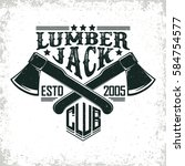 vintage woodworking logo design ...   Shutterstock .eps vector #584754577