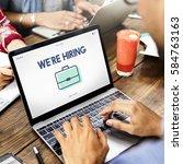 Stock photo job hiring vacancy team interview career recruiting 584763163