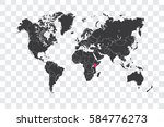 illustrated world map with the... | Shutterstock . vector #584776273