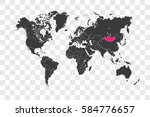 illustrated world map with the... | Shutterstock . vector #584776657