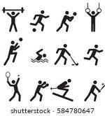 sport game icon symbol.vector | Shutterstock .eps vector #584780647