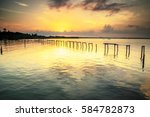water village in labuan  which... | Shutterstock . vector #584782873