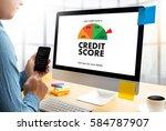 credit score  businessman... | Shutterstock . vector #584787907