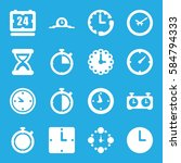 second icons set. set of 16... | Shutterstock .eps vector #584794333
