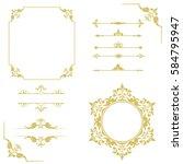 set of vintage elements. frames ... | Shutterstock .eps vector #584795947