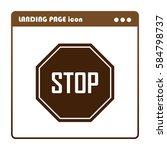 stop sign | Shutterstock .eps vector #584798737