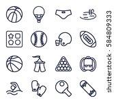 recreation icons set. set of 16 ...   Shutterstock .eps vector #584809333