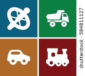 tire icons set. set of 4 tire... | Shutterstock .eps vector #584811127