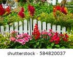 beautiful garden   Shutterstock . vector #584820037