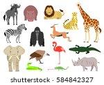 African Animal Element Set On...