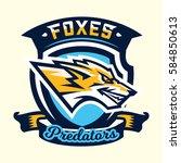 colourful emblem  logo  sticker ... | Shutterstock .eps vector #584850613