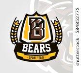 colorful logo  emblem  letter... | Shutterstock .eps vector #584852773