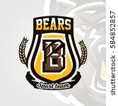 colorful logo  emblem  letter... | Shutterstock .eps vector #584852857