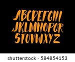 graphic font for your design.... | Shutterstock .eps vector #584854153
