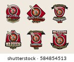 collection of colorful emblems  ... | Shutterstock .eps vector #584854513