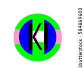initial letter ki black color... | Shutterstock .eps vector #584869603
