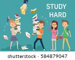 the study was too heavy and can ... | Shutterstock .eps vector #584879047