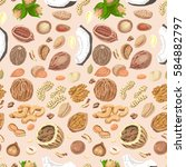 seamless pattern with colored... | Shutterstock .eps vector #584882797