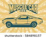 vintage old school car | Shutterstock .eps vector #584898157