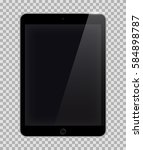 realistic tablet pc computer... | Shutterstock .eps vector #584898787