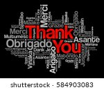 thank you word cloud vector... | Shutterstock . vector #584903083