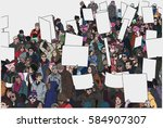 illustration of crowd... | Shutterstock .eps vector #584907307
