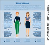 woman dress code vector... | Shutterstock .eps vector #584923087