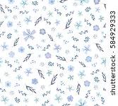 seamless non directional flower ... | Shutterstock . vector #584929333