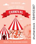 fun fair  carnival birthday... | Shutterstock .eps vector #584935387