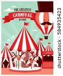 fun fair  carnival template... | Shutterstock .eps vector #584935423