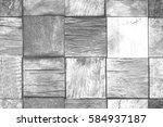 grey vintage wooden mosaic