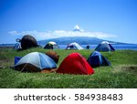 camping in the wilderness ... | Shutterstock . vector #584938483