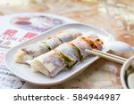 a kind of penang food on white...   Shutterstock . vector #584944987