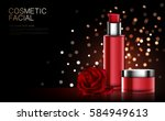 cosmetic product poster  red...   Shutterstock .eps vector #584949613