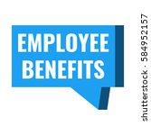 employee benefits. badge  icon  ... | Shutterstock .eps vector #584952157