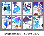 abstract background  brochure... | Shutterstock .eps vector #584952577