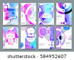 abstract background  brochure... | Shutterstock .eps vector #584952607