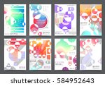 abstract background  brochure... | Shutterstock .eps vector #584952643