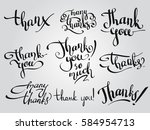 vector set of custom thank you... | Shutterstock .eps vector #584954713