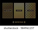 vector set of design elements ... | Shutterstock .eps vector #584961157
