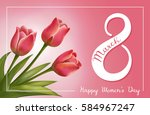 8 march women's day greeting... | Shutterstock .eps vector #584967247