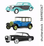 set of retro cars | Shutterstock .eps vector #584985367
