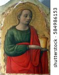 Small photo of POREC, CROATIA - DECEMBER 12: Antonio Vivarini: Saint Mary Magdalene, Altarpiece in Euphrasian Basilica in Porec, Croatia on December 12, 2011