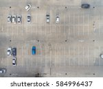 empty parking lots  aerial view. | Shutterstock . vector #584996437
