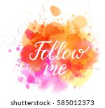 watercolor imitation background ... | Shutterstock .eps vector #585012373