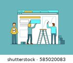 vector illustration in trendy... | Shutterstock .eps vector #585020083