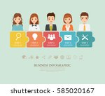 infographic of business people... | Shutterstock .eps vector #585020167