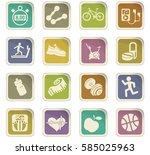 fitness vector icons for user... | Shutterstock .eps vector #585025963