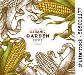 Corn On The Cob Vintage Design...